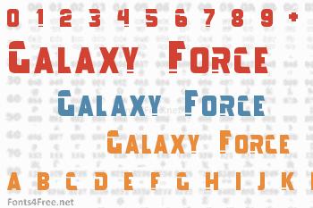 Galaxy Force Font