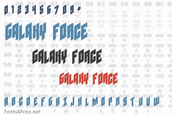 GalaxyForce Font