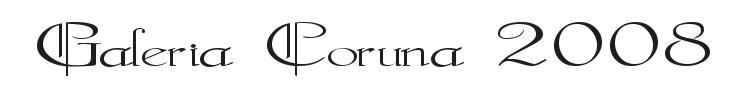 Galeria Coruna 2008 Font