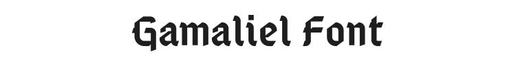 Gamaliel Font Preview