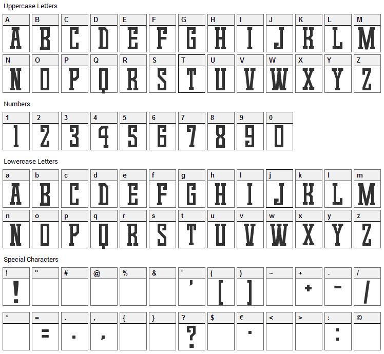 Game Continue 02 Font Character Map