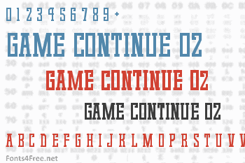 Game Continue 02 Font