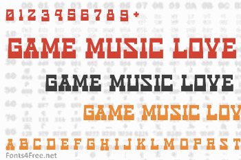 Game Music Love Font