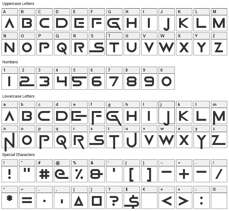 Game Of Squids Font Character Map