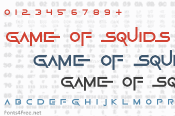 Game Of Squids Font