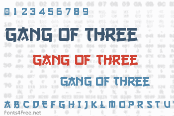 Gang of Three Font