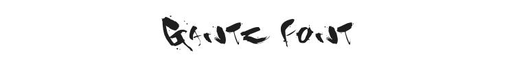 Gantz Font Preview