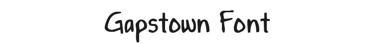 Gapstown Font Preview