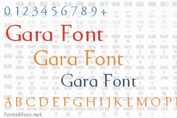 Gara Font