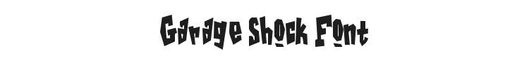 Garage Shock Font Preview