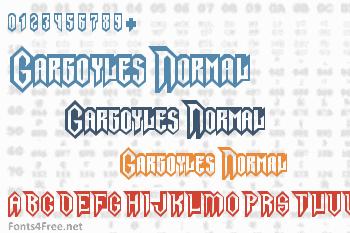 Gargoyles Normal Font
