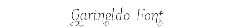 Garineldo Font Preview