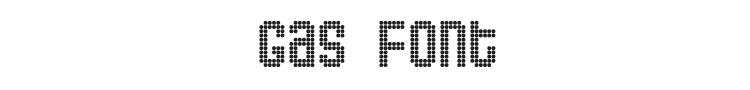Gas Font