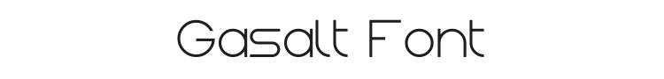 Gasalt Font Preview
