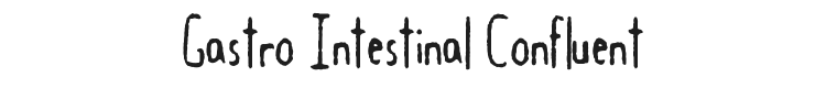 Gastro Intestinal Confluent Font Preview