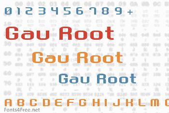 Gau Font Root Font