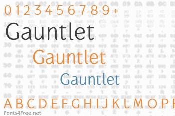 Gauntlet Font