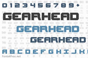 Gearhead Font