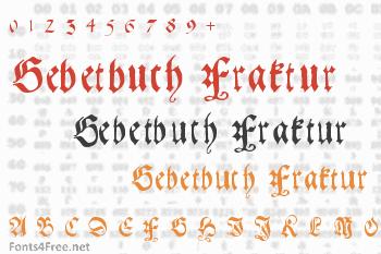 Gebetbuch Fraktur Font