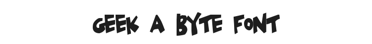 Geek a Byte Font Preview