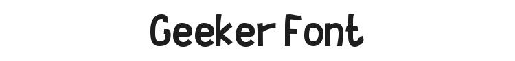 Geeker Font Preview