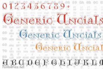 Generic Uncials SnowCapped Font