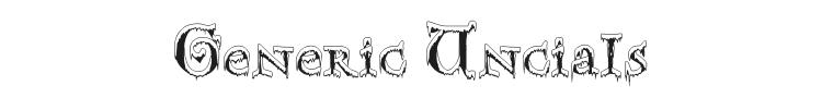 Generic Uncials SnowCapped Font Preview
