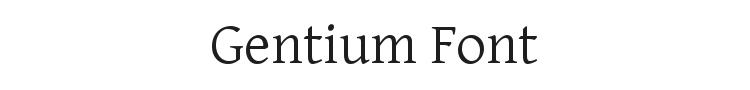 Gentium Font Preview