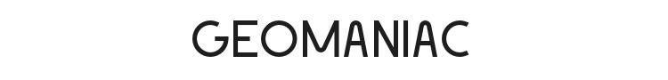 Geomaniac Font Preview
