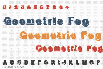 Geometric Fog Font