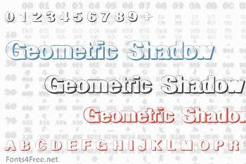 Geometric Shadow Font