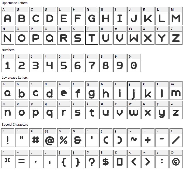 Geometry Soft Pro Font Character Map