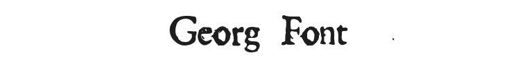 Georg Font Preview