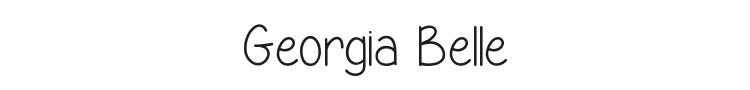 Georgia Belle Font Preview