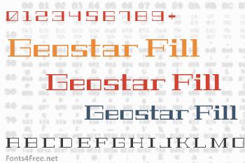 Geostar Fill Font