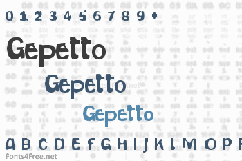 Gepetto Font