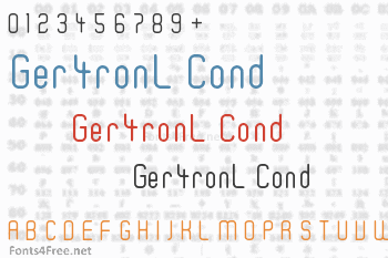 Ger4ronL Cond Font