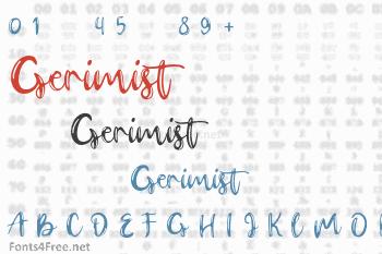 Gerimist Font