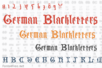 German Blackletters, 15th c. Font