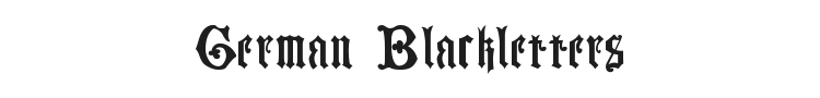 German Blackletters, 15th c. Font Preview