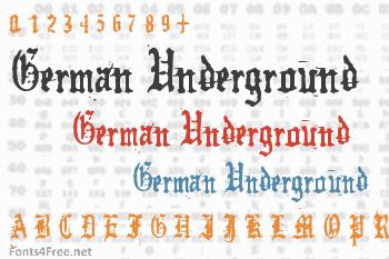 German Underground Font
