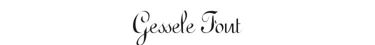Gessele Font Preview