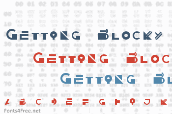 Getting Blocky Font