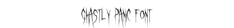 Ghastly Panic Font Preview