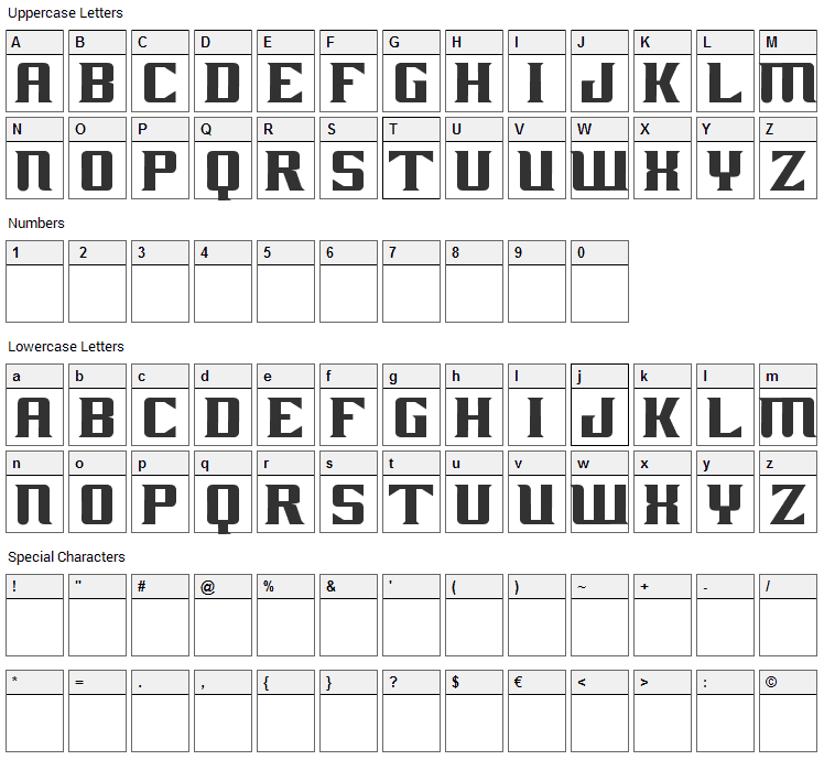 Ghost Rider Movie Font Character Map