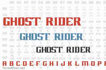 Ghost Rider Movie Font