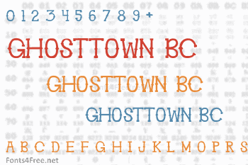 Ghosttown BC Font