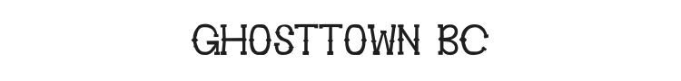 Ghosttown BC Font Preview