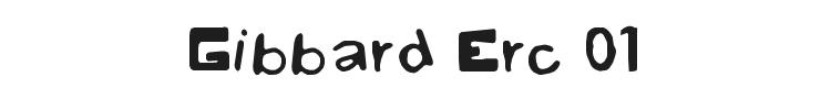 Gibbard Erc 01 Font Preview