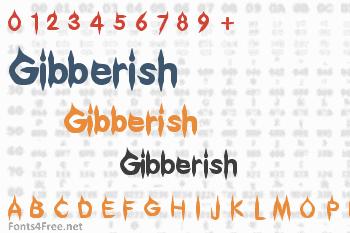 Gibberish Font